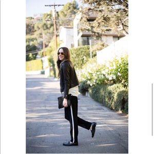 Joie Nairi Silk Crepe Tuxedo Stripe Pants XS